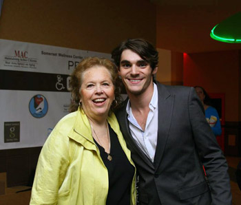Andrea Sims and RJ Mitte