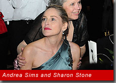 Andrea Sims and Sharon Stone, 2011