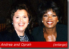 Andrea Sims and Oprah Winfrey